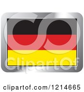 Clipart Of A Germany Flag And Silver Frame Icon Royalty Free Vector Illustration