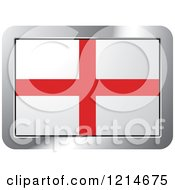 Clipart Of An England Flag And Silver Frame Icon Royalty Free Vector Illustration by Lal Perera