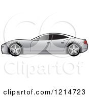 Clipart Of A Silver Four Door Sports Car Royalty Free Vector Illustration by Lal Perera