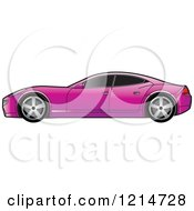 Clipart Of A Purple Four Door Sports Car Royalty Free Vector Illustration by Lal Perera