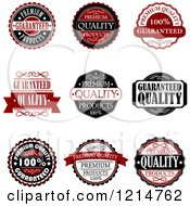 Clipart Of Vintage Retail Quality Guarantee Labels 3 Royalty Free Vector Illustration