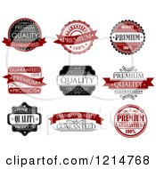 Clipart Of Vintage Retail Quality Guarantee Labels 2 Royalty Free Vector Illustration