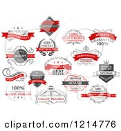Clipart Of Vintage Retail Quality Guarantee Labels Royalty Free Vector Illustration