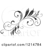 Clipart Of A Gray Flourish Design 6 Royalty Free Vector Illustration