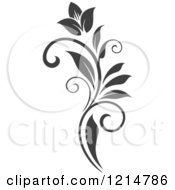 Clipart Of A Gray Flourish Design 3 Royalty Free Vector Illustration