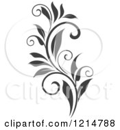 Clipart Of A Gray Flourish Design 2 Royalty Free Vector Illustration