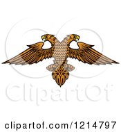 Clipart Of A Heraldic Double Headed Eagle 2 Royalty Free Vector Illustration