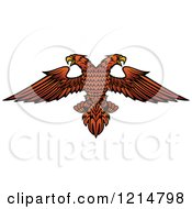 Clipart Of A Heraldic Double Headed Eagle Royalty Free Vector Illustration
