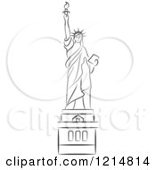 Black And White Sketched Statue Of Liberty