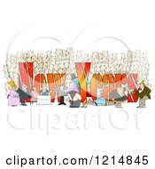 Clipart Of People Having Fun At A New Year Party With Text Royalty Free Illustration by Dennis Cox