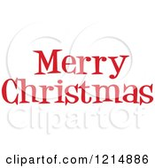 Cartoon Of A Red Merry Christmas Greeting Royalty Free Vector Clipart