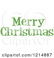 Cartoon Of A Green Merry Christmas Greeting Royalty Free Vector Clipart