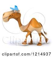 Clipart Of A 3d Camel Mascot Wearing A Baseball Cap And Walking 3 Royalty Free Illustration