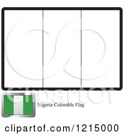 Clipart Of A Coloring Page And Sample For A Nigeria Flag Royalty Free Vector Illustration