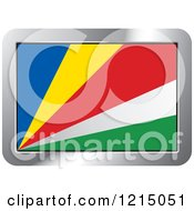 Clipart Of A Seychelles Flag And Silver Frame Icon Royalty Free Vector Illustration