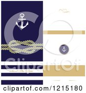 Clipart Of A Nautical Wedding Invitation Design With Text Space Royalty Free Vector Illustration by Eugene