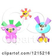 Clipart Of A Cute Sun And Animals Royalty Free Vector Illustration by bpearth