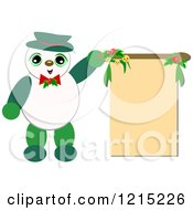 Happy Snowman Holding A Christmas Sign