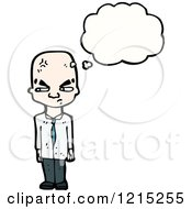 Cartoon Of A Business Man Thinking Royalty Free Vector Illustration