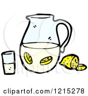 Cartoon Of A Pitcher Of Lemon Water Royalty Free Vector Illustration by lineartestpilot