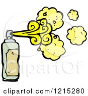 Cartoon Of A Aerosol Spray Can Royalty Free Vector Illustration