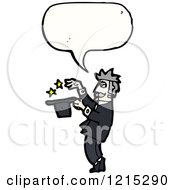 Cartoon Of A Magician Speaking Royalty Free Vector Illustration