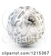 Clipart Of A 3d Abstract Metal Sphere Royalty Free Illustration by Mopic