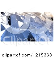 Clipart Of A 3d Abstract Geometric Metal Surface Royalty Free Illustration