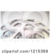 Clipart Of A 3d Abstract Metal Mesh Design Royalty Free Illustration