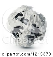 Clipart Of A 3d Abstract Sphere On White Royalty Free Illustration by Mopic
