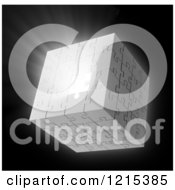 Clipart Of A 3d Puzzle Cube With Light Bursting Through A Missing Piece Royalty Free Illustration by Mopic