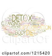 Colorful Detox Word Collage