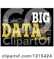 Clipart Of A Colorful Big Data Word Collage Royalty Free Illustration