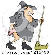 Witch Lifting Her Dress And Farting