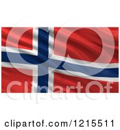 3d Waving Flag Of Norway With Rippled Fabric by stockillustrations