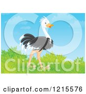 Poster, Art Print Of Cute Happy Ostrich In Nature