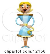 Clay Sculpture Clipart Skinny Teacup Woman Measuring Her Waist Royalty Free 3d Illustration by Amy Vangsgard #COLLC12156-0022