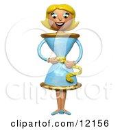 3d Skinny Teacup Woman Measuring Her Waist