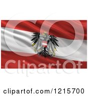 Clipart Of A 3d Waving Flag Of Austria With Rippled Fabric Royalty Free Illustration