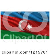 Clipart Of A 3d Waving Flag Of Azerbaijan With Rippled Fabric Royalty Free Illustration