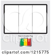 Coloring Page And Sample For A Mali Flag