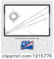 Coloring Page And Sample For A Marshall Island Flag