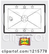 Coloring Page And Sample For A Grenada Flag