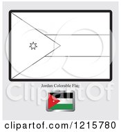 Coloring Page And Sample For A Jordan Flag
