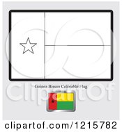 Coloring Page And Sample For A Guinea Bissau Flag