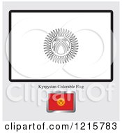 Coloring Page And Sample For A Kyrgyzstan Flag