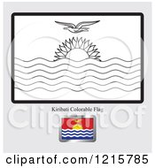 Coloring Page And Sample For A Kiribati Flag