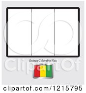 Clipart Of A Coloring Page And Sample For A Guinea Flag Royalty Free Vector Illustration by Lal Perera