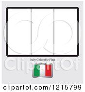 Clipart Of A Coloring Page And Sample For An Italy Flag Royalty Free Vector Illustration