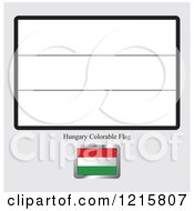 Clipart Of A Coloring Page And Sample For A Hungary Flag Royalty Free Vector Illustration